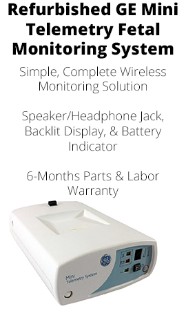 REFURBISHED GE MINI TELEMETRY FETAL MONITORING SYSTEM